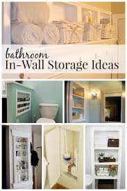 remodelaholic 25 brilliant in wall storage ideas for every room impressive on bathroom wall cabinet ideas