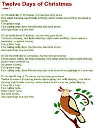 Twelve Days of Christmas Lyrics