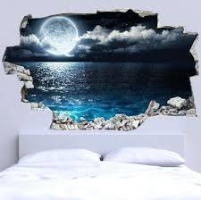 3d wall stickers bed headboard wall decal full moon more 3d vinyl wall stickers uk 3d