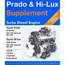 Toyota Prado & Hi-Lux Engine supplement diesel 1KZ-TE (Gregory's 311)