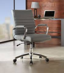 realspace modern comfort winsley leather mid back chair gray 7