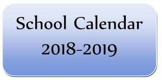Image result for school calendar 2018-2019