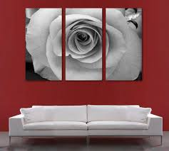 white rose flower canvas print wall art