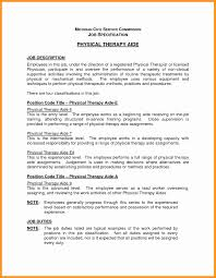 New Physical Therapy Aide Resume Sample Linuxgazette