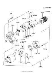 Kawasaki fe290d bs02 4 stroke engine fe290d parts diagram for starter