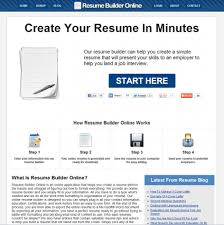 ... Creative Online Resume Builder ...