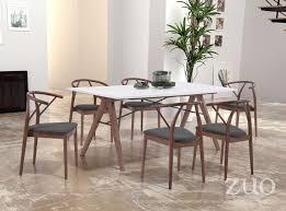 modern furniture dining room. Unique Room Saints Dining Table Walnut U0026 White To Modern Furniture Room H