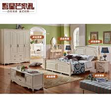 Buy All solid wood bed 1.8 m double bed american pastoral white ...