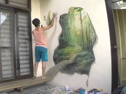 On The Wall Painting Mural Wall Painting By Picabbo 3d Magic Woods Ae 1 4 Ae 1 2 C