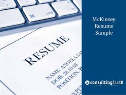 McKinsey Management Resume Consulting Resume Sample Sample     SlideShare