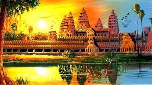 angkor wat painting temple of angkor wat paintings images angkor wat painting