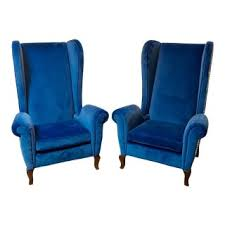 wingback chairs for sale.  Sale Blue Wingback Chairs  A Pair Intended For Sale C