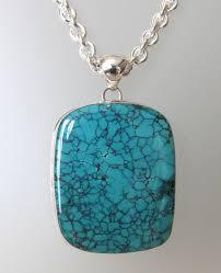 large turquoise pendant turquoise