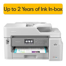 Brother Mfc J5845dwxl Inkvestment Tank Wireless Duplex All In One Color Inkjet Printer Up To 2 Years Of Ink In Box