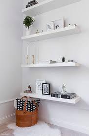 Ikea Lack Floating Shelves White A chic 100 spm apartment in Sweden White floating shelves 2