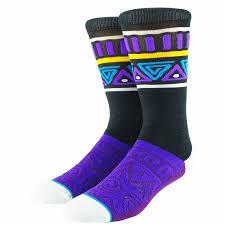Фиолетовые богемные <b>мужские носки</b> с этническим рисунком ...