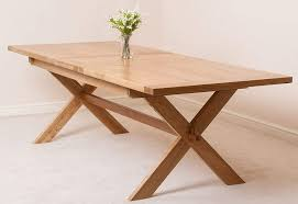 Oak Furniture King Extendable Large Oak Dining Table 6 8 Seater