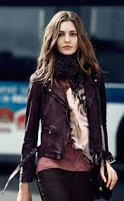 the color of trendy leather jacket for autumn season