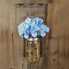 mason jar wall sconce rustic wedding decor candle glass sconces for flowers wooden with kerr clear cylinder vases best light bulbs bathroom vanity