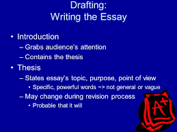 organizing and revising essays ppt  drafting writing the essay