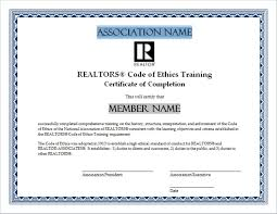 Www Certificates Code nar Training Ethics Of realtor