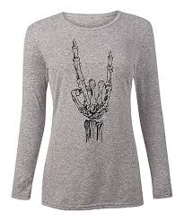Zulily Size Chart Instant Message Womens Athletic Heather Skeleton Hand Long