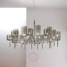 designer chandelier spillray with glass shades 1088049 01
