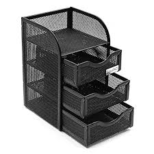 desk accessories and organizers. Fine Accessories EasyPAG Mesh Cute Desk Accessories Organizer Caddy 3 Drawer Mini HutchBlack Throughout And Organizers