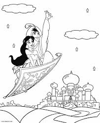 Princess jasmine is the sixth member of the disney princess line up and female lead of the animated film aladdin. Printable Jasmine Coloring Pages For Kids
