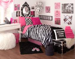 Bedroom:Cute Pink And Purple Teenage Girls Bedroom Design With White Car  Shaped Bed Ideas