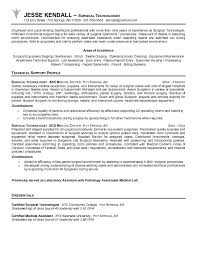 What Are Resume Objectives Surgical Tech Resume Objective Samples technician position 85