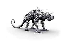 3d lizard robot background