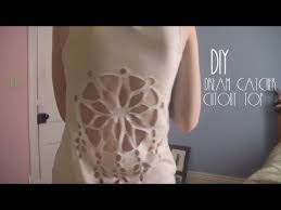 Dream Catcher Shirt Diy DIY Dream Catcher Cutout Top Fun with clothes DIY refashion 5