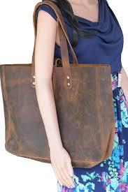 komalc genuine soft buffalo leather tote bag elegant per shoulder bag