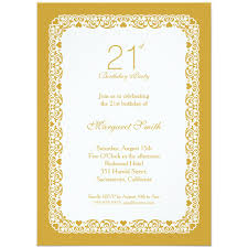 elegant personalized 21st birthday party invitations choose your own colors
