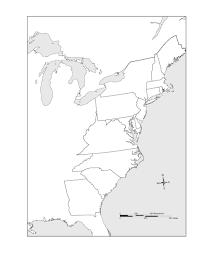 us map  colonies printable  colonies map outline