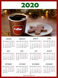 2020 Calendar With Us Holidays Coffee Calendars 2020 Printable With Us Holidays Monday