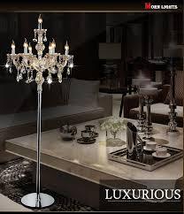 fashion modern crystal floor lamp living room lights