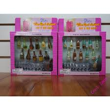 diy barbie dollhouse furniture. 1 Set Mini Doll Furniture 22items Wine Cabinet12Pcs Bottles9Pcs Wineglass Diy Barbie Dollhouse