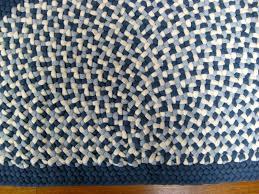 immediately blue braided rug 2 x 3 1 wool half round country braid house