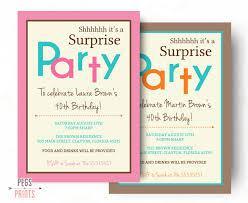 Free Printable Surprise Birthday Party Invitations Templates