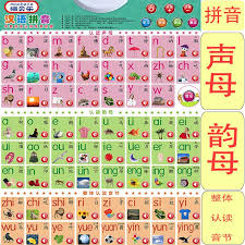 Chinese Sound Chart Children Learn Chinese Pinyin Sound Wall Chart Initials Initials Syllables Pronunciation Alphabet Picture Literacy