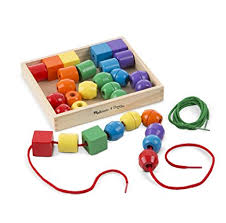 Wooden Bead Game Best Amazon Melissa Doug Primary Lacing Beads With 332 Beads And 32