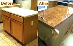 granite look laminate marble white kitchen countertops faux painting