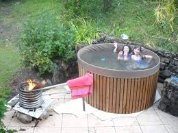 diy wood hot tub hot tub cedar hot tub with wood fired and stainless steel pipe diy wood hot tub