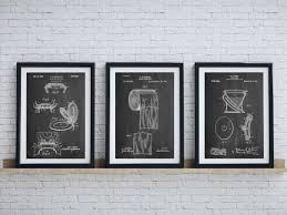 Vintage Bathroom Wall Decor Lovely Bathroom Art Patent Posters Group