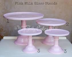 pink milk glass labelled pink milk glass stands