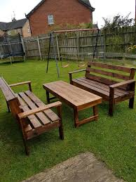 garden furniture wooden bench table wood table and benches