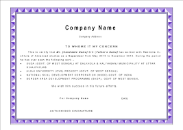 Computer Certificate Format Computer Experience Certificate Format C24ualwork24org 20
