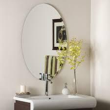 Bathrooms Design Frameless Bathroom Mirror Tall Wall Mirrors